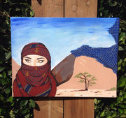 Lady in the red scarf