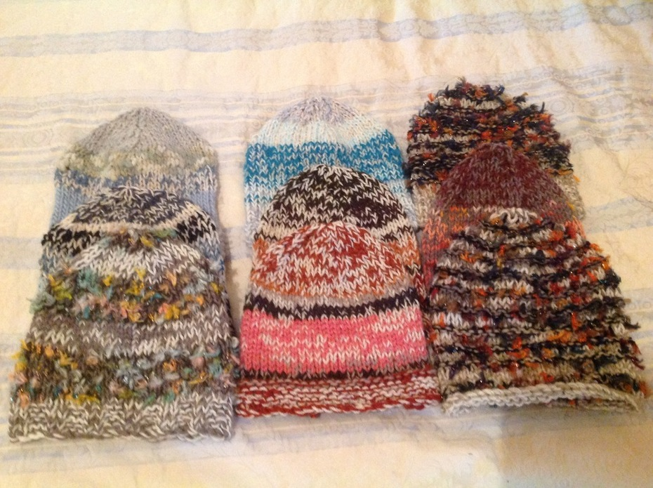 9 Double knit woollen beanies