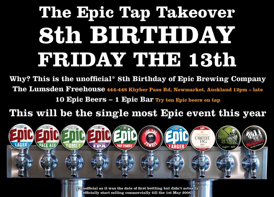 Epic Birthday Party - Friday 13th