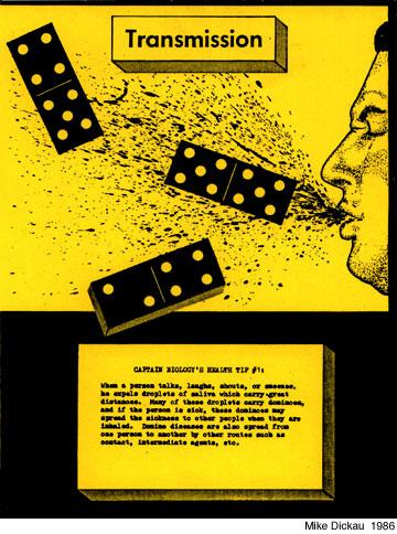 1986 TRANSMISSION: DOMINO DISEASES (BROADSIDE)