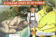 avulgar display of power