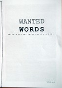 Wanted words letter no. 1