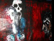 Speechless despair Tell me brother man who you are Acryl auf Tuch 150 x 107 2010