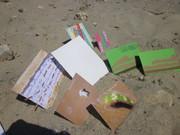 Marcla's mail art and my sandpo cards on-the-beach