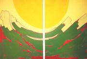 1.Joy (diptych) 2009 (acrylic on canvas) 70x100cm (27x39in)