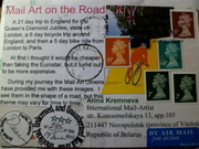 Mail Art on the Road by Dean Marks (France)