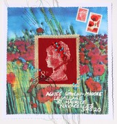 Mail Art. Theme, 'Flowers' 2012.