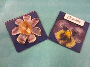 Pressed Pansies and Seashell Flower Arty Slides