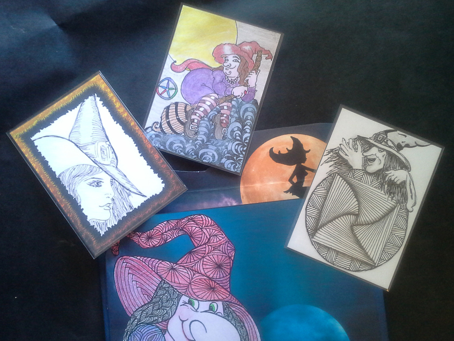 ATCs to go inside the witch envelope