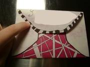 Pink Zentangle Envelope Back