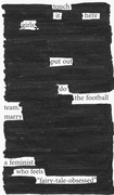 Touch it blackout poem