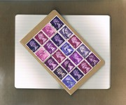 Postal Patchwork Notebook - purple