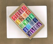 Postal Patchwork Notebook - rainbow