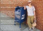 Mt Vernon mailbox June 2014 with FB conversation