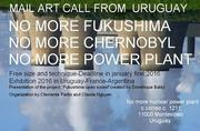 """Mail Art call from Uruguay """"NO MORE NUCLEAR POWER PLANT"""""""