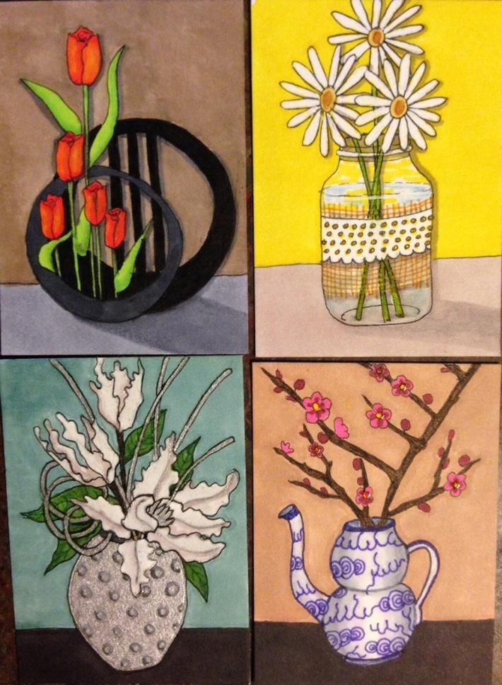 Flower Vase ATCs