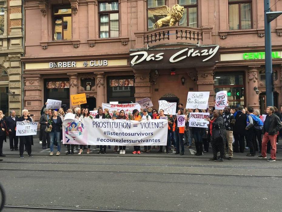 Demonstration in Mainz, Germany declaring prostitution as violence against women