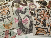 stamped mail art postcards