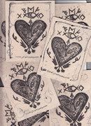 mail art rune heart valentines