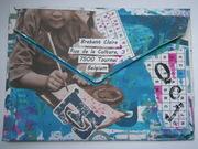Mail art sent (back) - Letter power