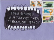 Envelope Sent to Toni Hanner