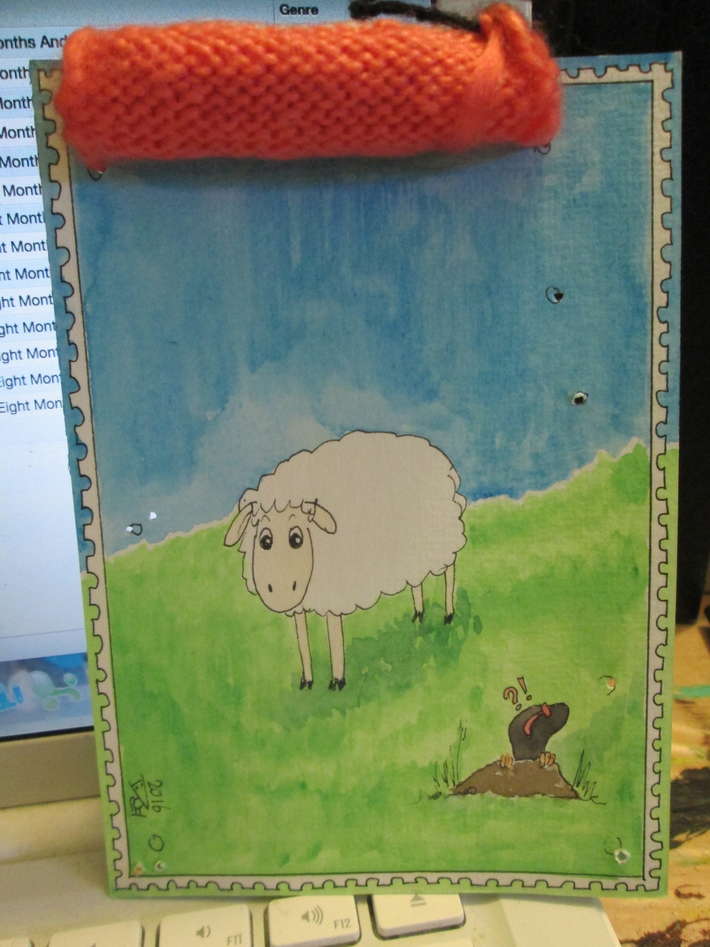 And behind the knitted wall...Sheep and Mole