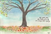 Autmn Tree w Haiku - e