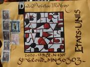 calligraphy mail art