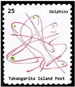 Takangarika Island 25c Dolphins