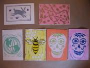 Bunny abstract world bee sugar skulls
