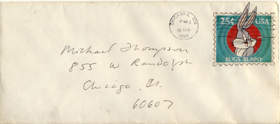 My first stamped envelope, 1991