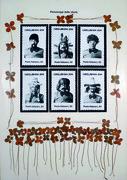 Personaggi della storia, fotografie e quadrifogli su cartoncino, cm.102x72, 1979
