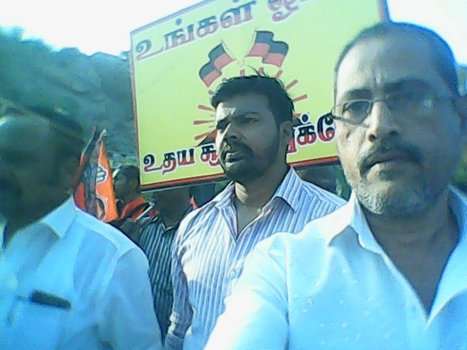 Balamurali Balaji in election canvas
