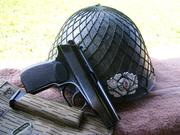 east german makarov and helmet
