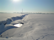 Drifted Snow at Ditchside.