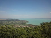 Balaton lake and awesome view from one volcano
