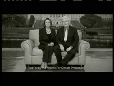 Nancy Pelosi and Newt Gingrich Commercial on Climate Change