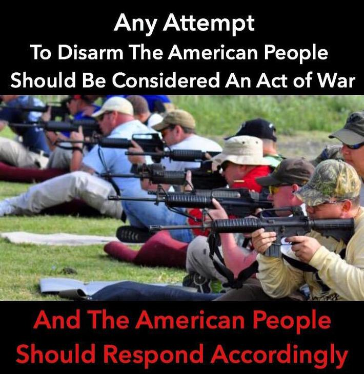 ANY ATTEMPT TO DISARM THE AMERICAN PEOPLE