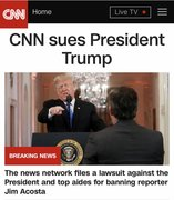 CNN's top news story on their website is about CNN