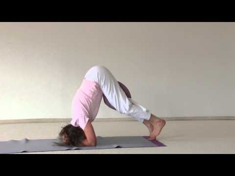 Scorpion with a Pillow- Hatha Yoga Asana