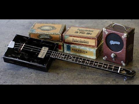 3- String Cigar Box Guitar - Long Slide Blues -