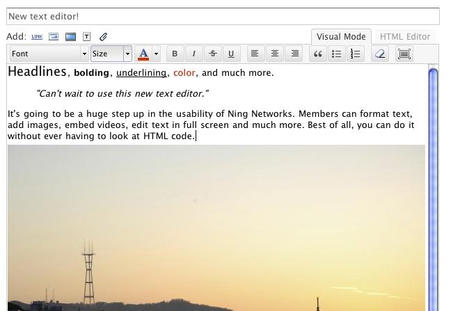 New Ning text editor