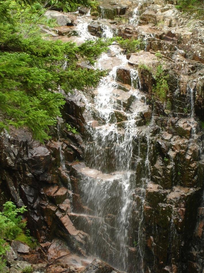 Waterfall In Acadia