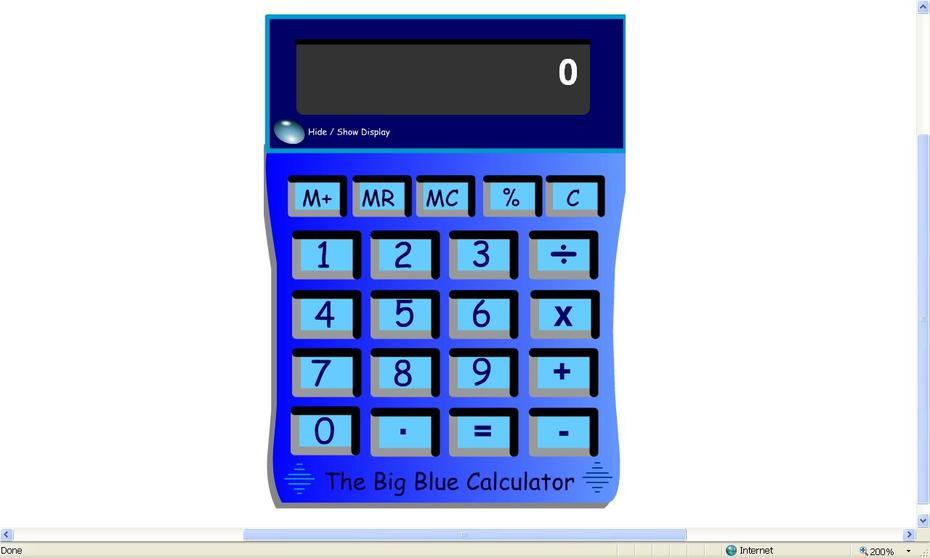 Crickweb Big Blue Calculator