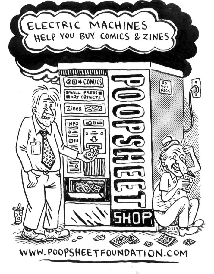 Poopsheet flyer by C. Cilla