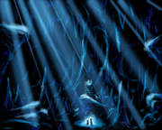 Early conceptual drawing (Blue Cave)