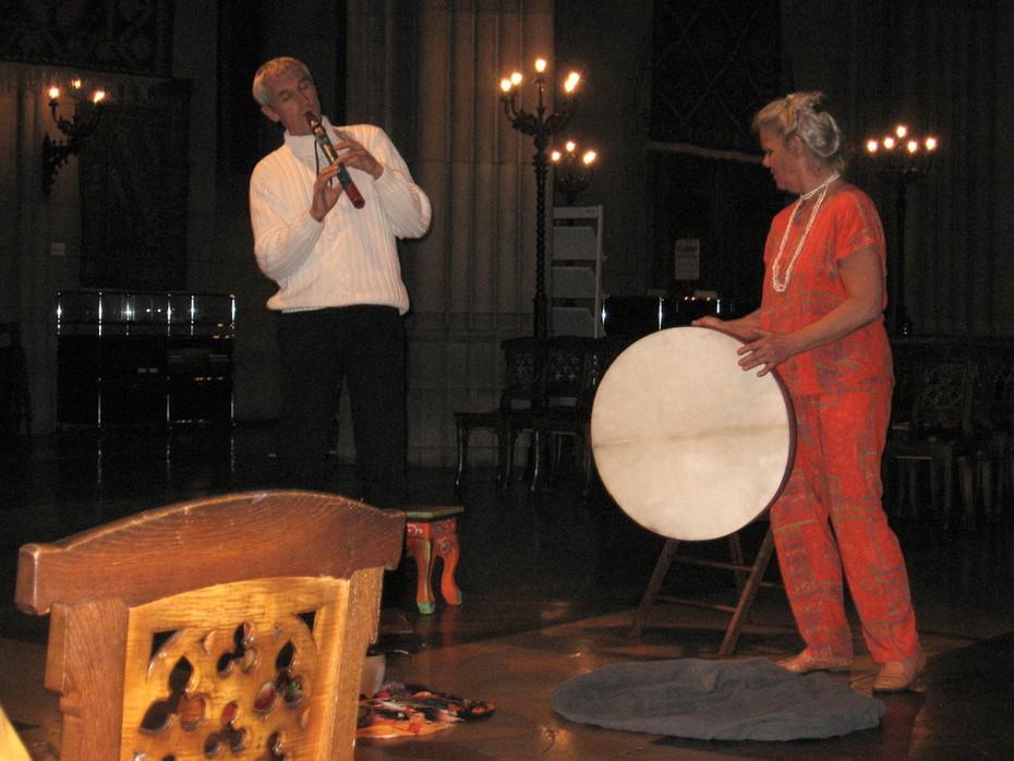 Basel singts, Konzert mit Samuel Staffelbach und seiner Indianerflöte