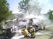 Camper Fire