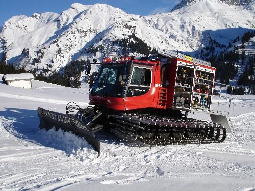 snow mobile in lech/austria