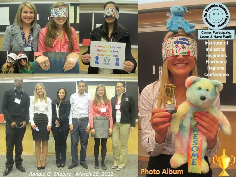 Institute of Industrial Engineers (IIE) Northeastern University 2011 Games To Explain Human Factors Photo Album